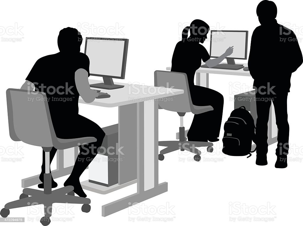 PC workplace royalty-free stock vector art