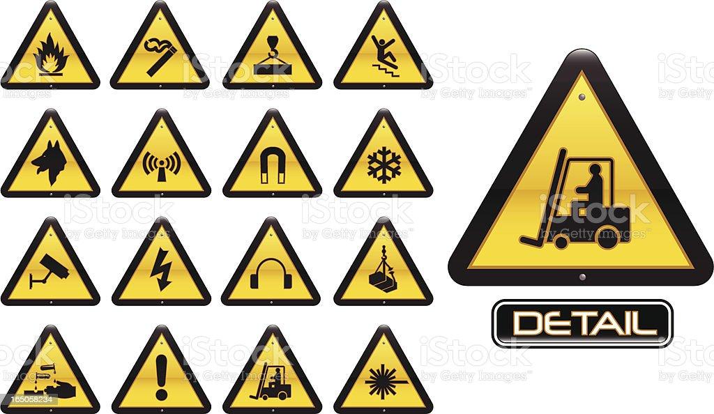 Arbeitsplatz Warnung Zeichen – Vektorgrafik