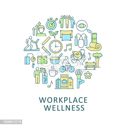 istock Workplace wellness abstract color concept 1309912216