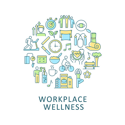 Workplace wellness abstract color concept