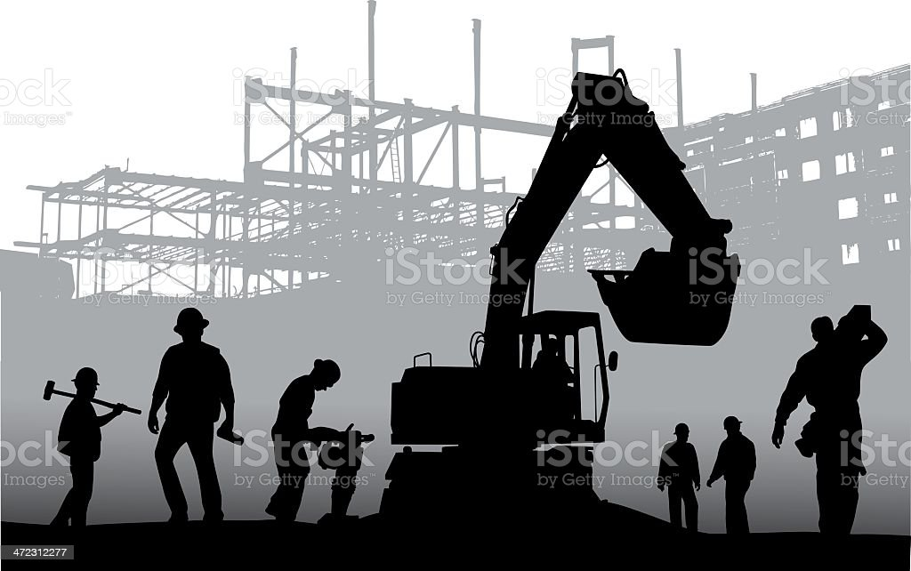 Workplaces vector art illustration