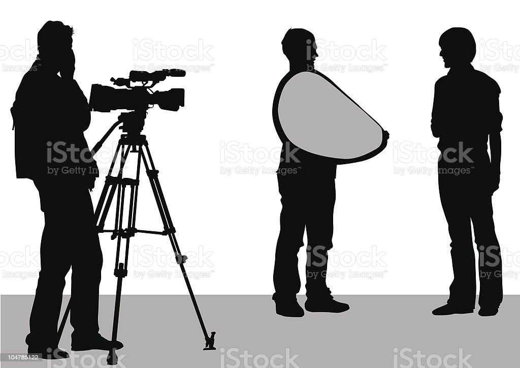TV works vector art illustration