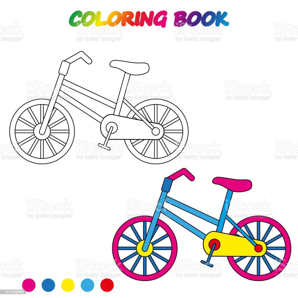 Vetores De Planilha Bicicleta Livro Para Colorir Jogo Para
