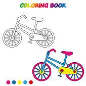 Scooter Coloring Book Page Cartoon Vector Illustration Stok Vektör