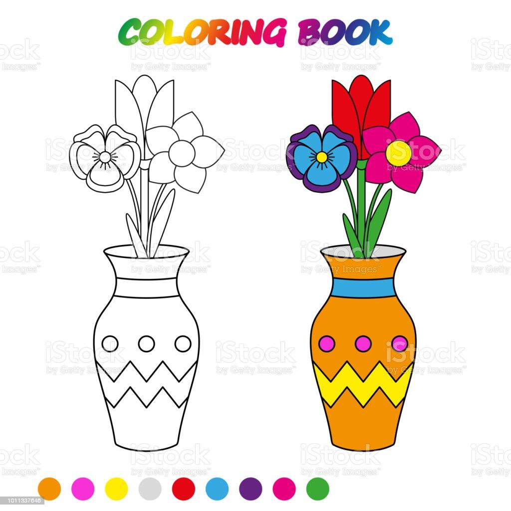 Ilustración de Hoja De Cálculo Flores De Tulipán En Florero Libro ...