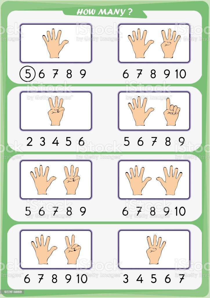 Arbeitsblatt Für Kindergartenkinder Die Anzahl Der Objekte Lernen ...