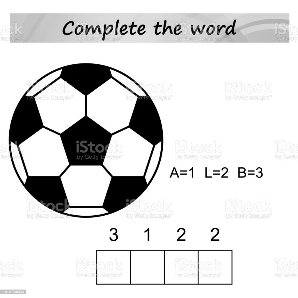 Worksheet For Preschool Kids Words Puzzle Educational Game For