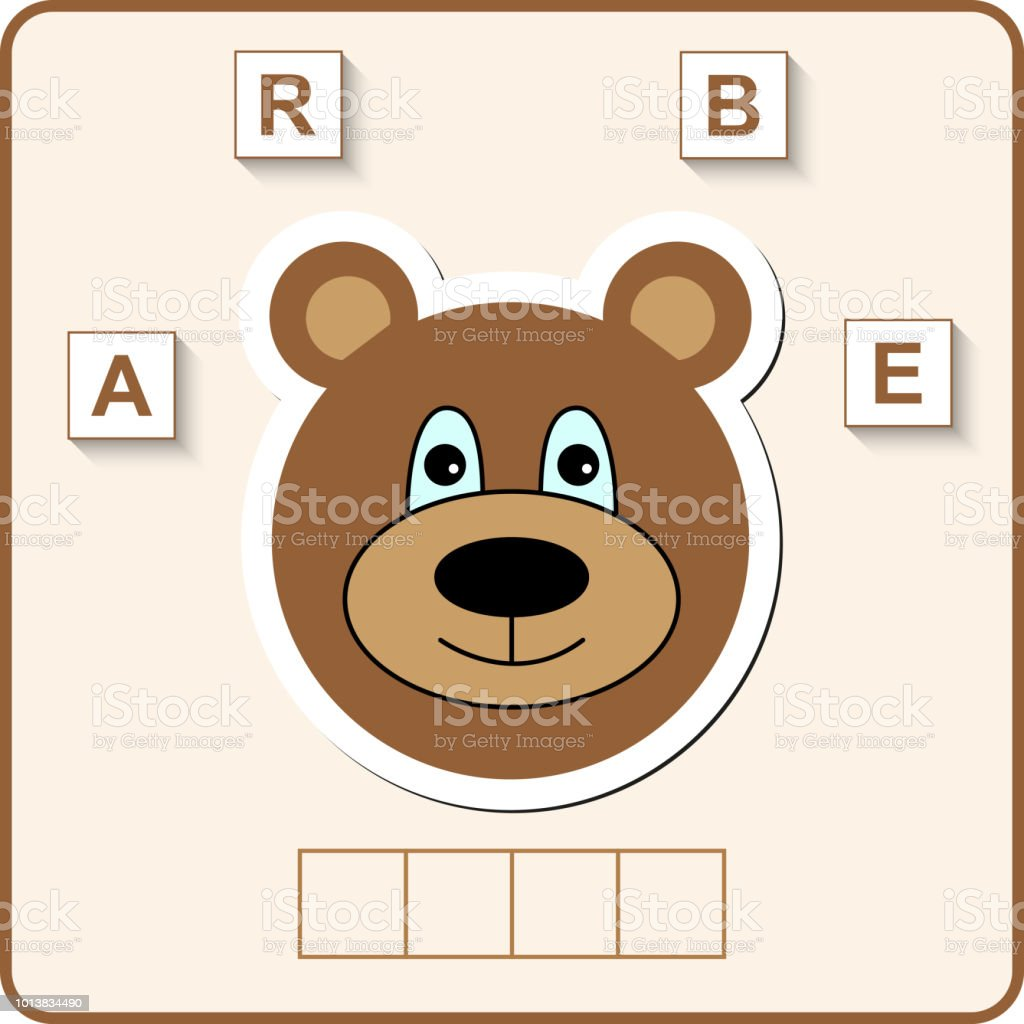 Arbeitsblatt Für Kinder Im Vorschulalter Wörter Puzzle Lernspiel Für ...