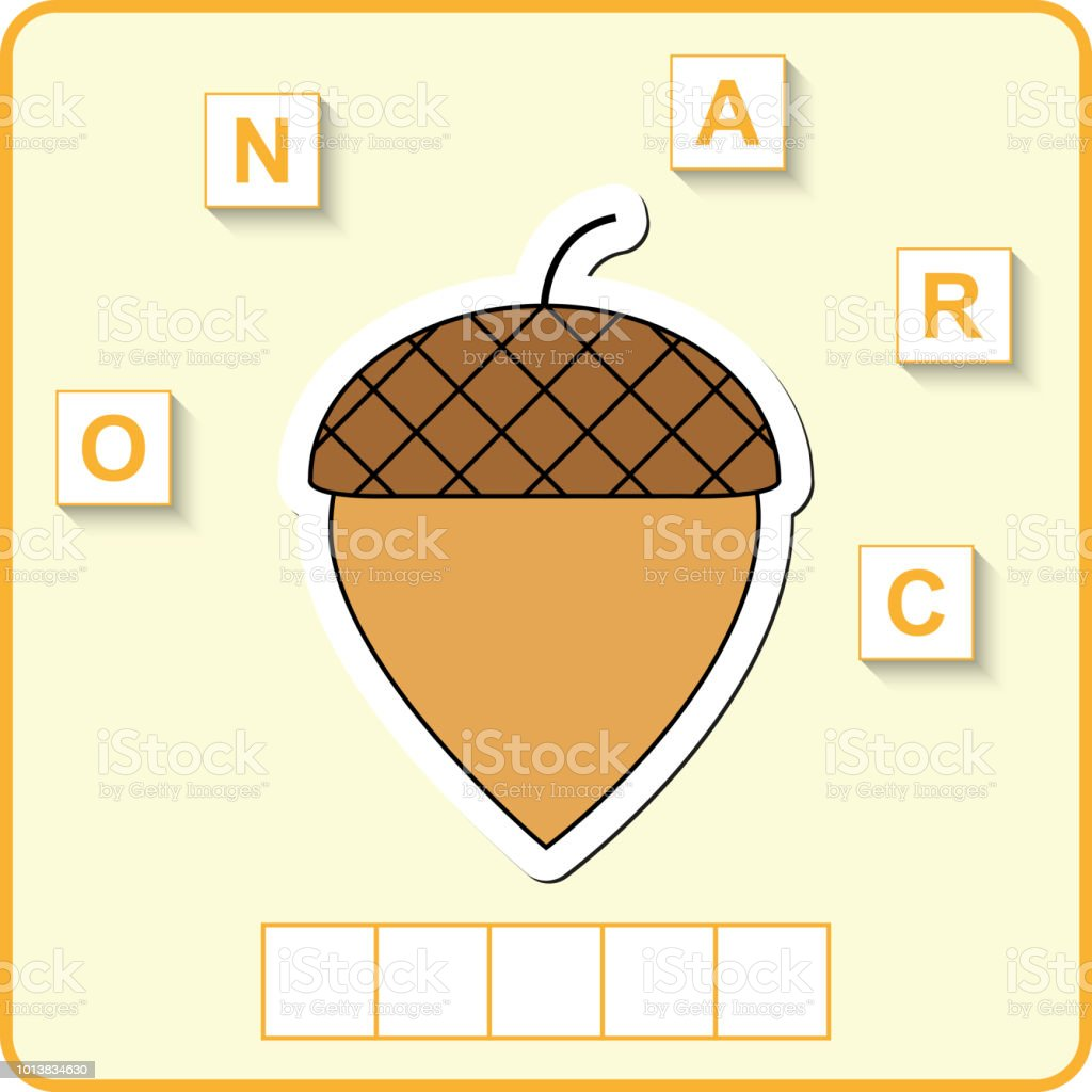 Worksheet For Preschool Kids Words Puzzle Educational Game For Children Place The Letters In Right Order Stock Illustration Download Image Now Istock