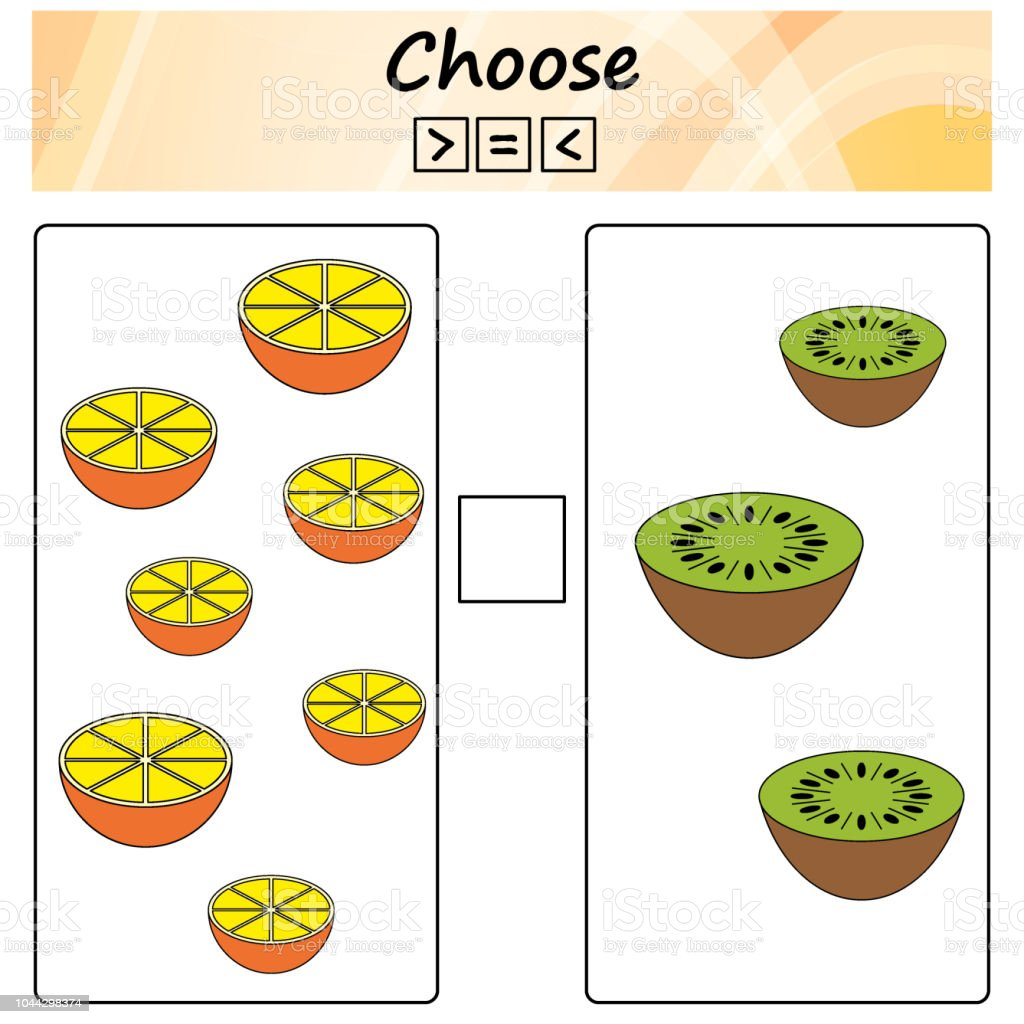 Worksheet Game For Kids Choose More Less Or Equal Learning