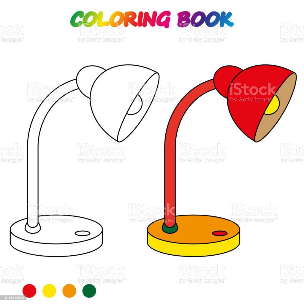 Ilustración De Hoja De Cálculo Lámpara De Mesa Libro Para