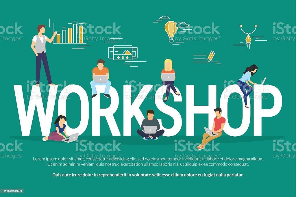 Workshop concept illustration – Vektorgrafik