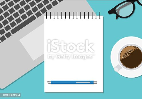 istock workspace banner with computer, notebook and pen 1330668894