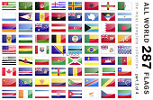 World 287 Flags - part 1 of 4