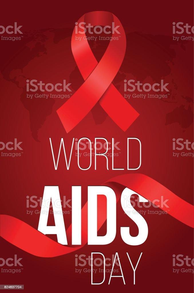 World AIDS Day. AIDS awareness vector art illustration