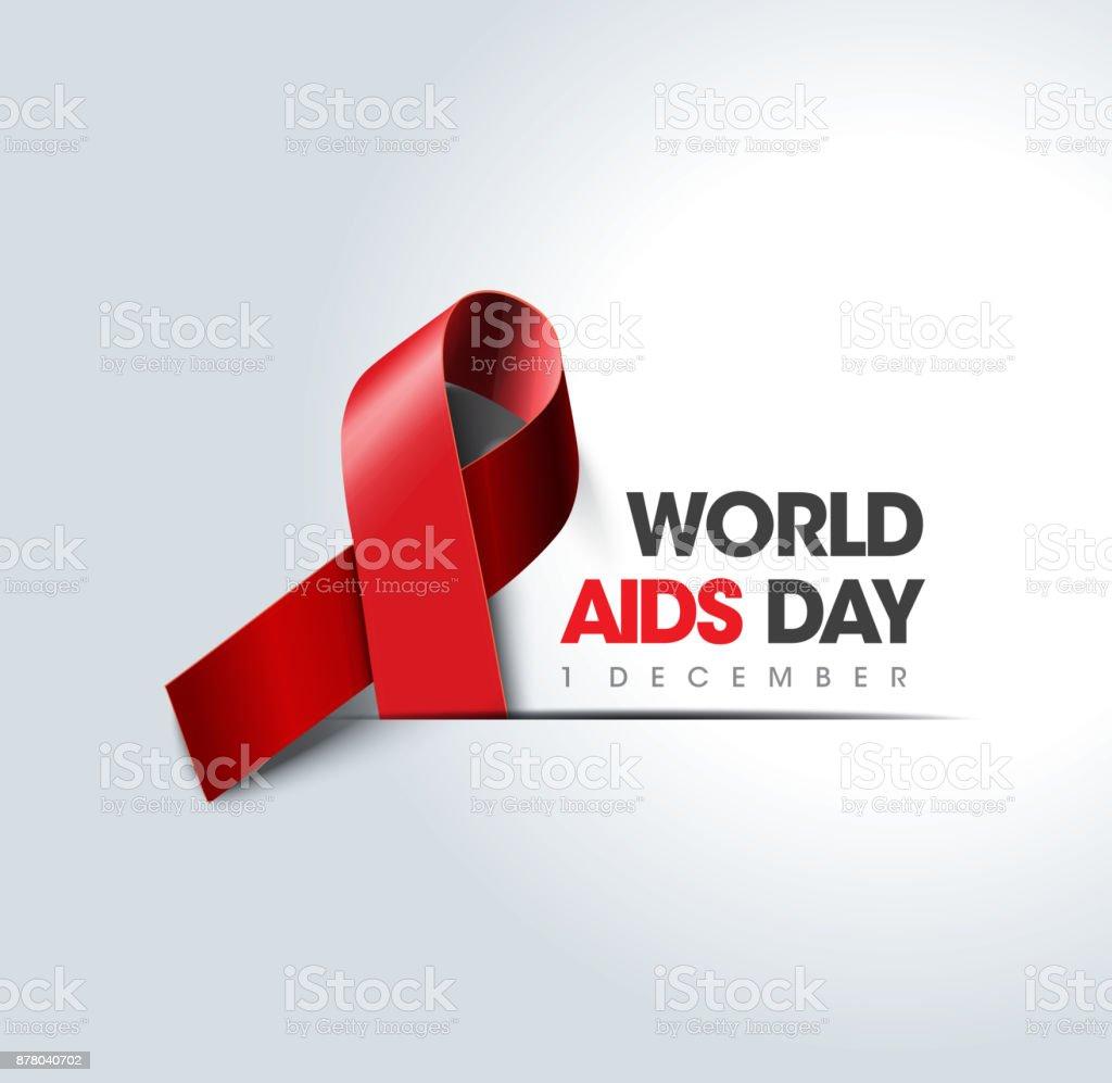 世界愛滋病日概念 - 免版稅不足圖庫向量圖形