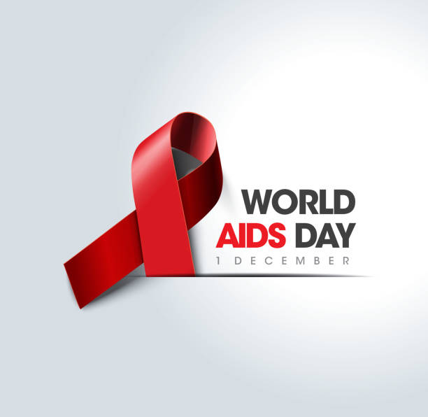 welt-aids-tag-konzept - aids stock-grafiken, -clipart, -cartoons und -symbole