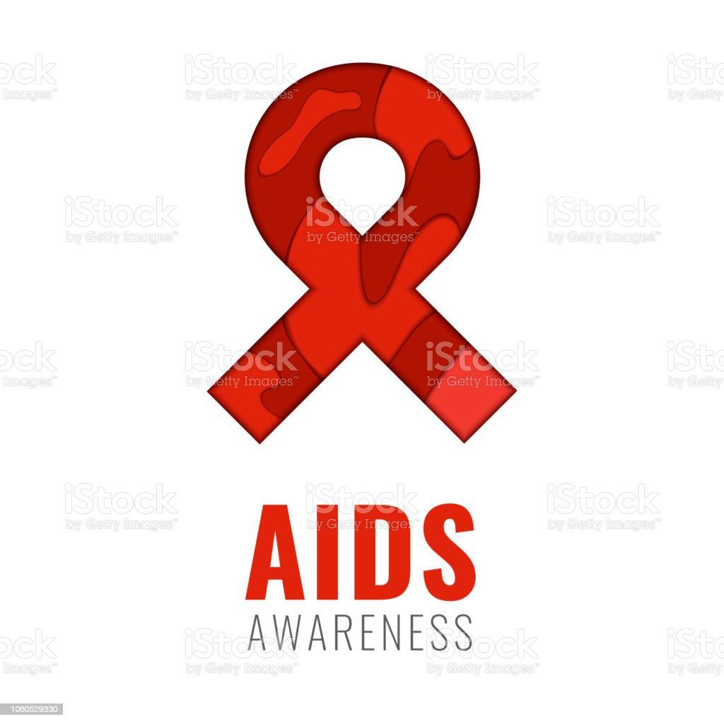 World AIDS Day Poster векторная иллюстрация