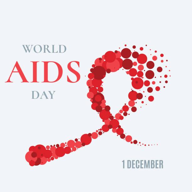 dünya aids günü poster - aids stock illustrations