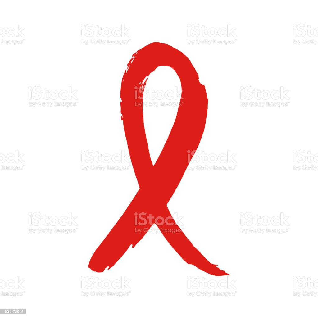World AIDS Day ribbon for AIDS background. vector art illustration