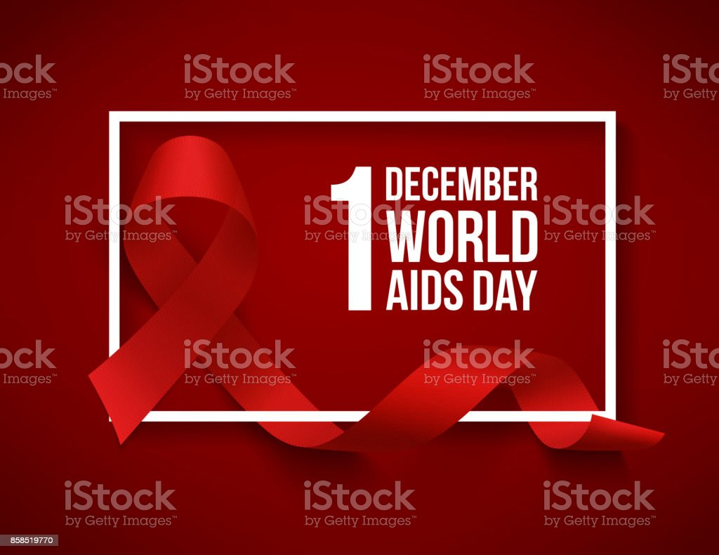 World aids day vector art illustration