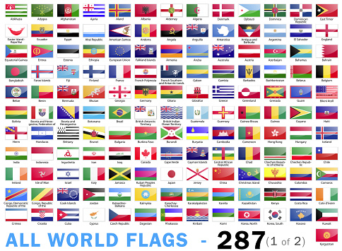 World All Flags - Complete collection - 287 items - part 1 of 2