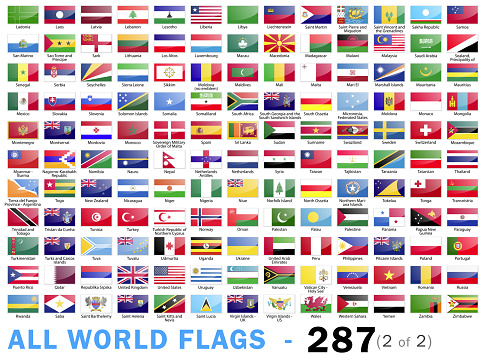 World All Flags - Complete collection - 287 items - part 2 of 2