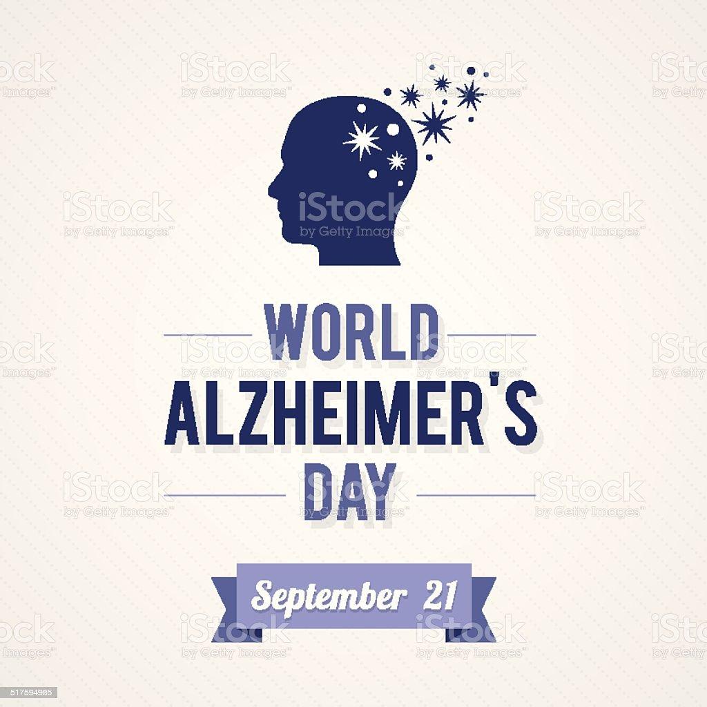 Monde de la maladie d'Alzheimer - Illustration vectorielle