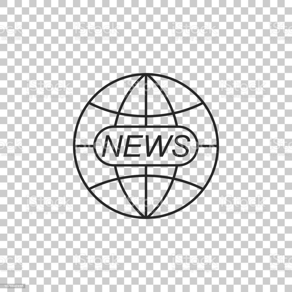 World And Global News Concept Icon Isolated On Transparent