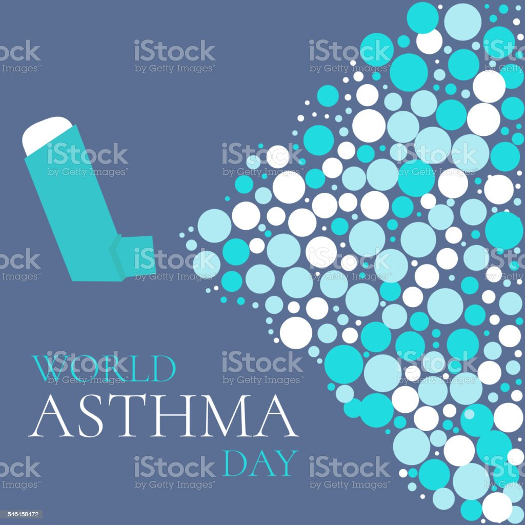 World asthma day poster vector art illustration