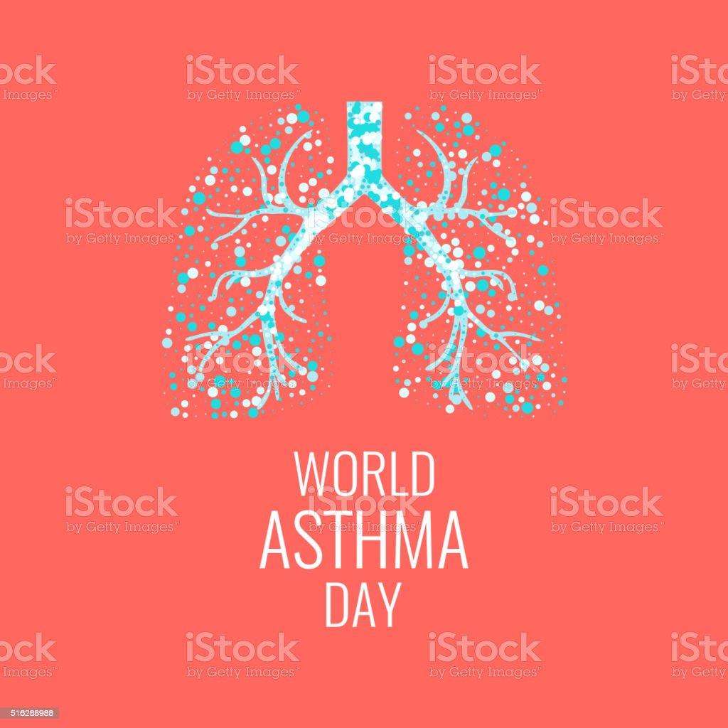World Asthma Day vector art illustration
