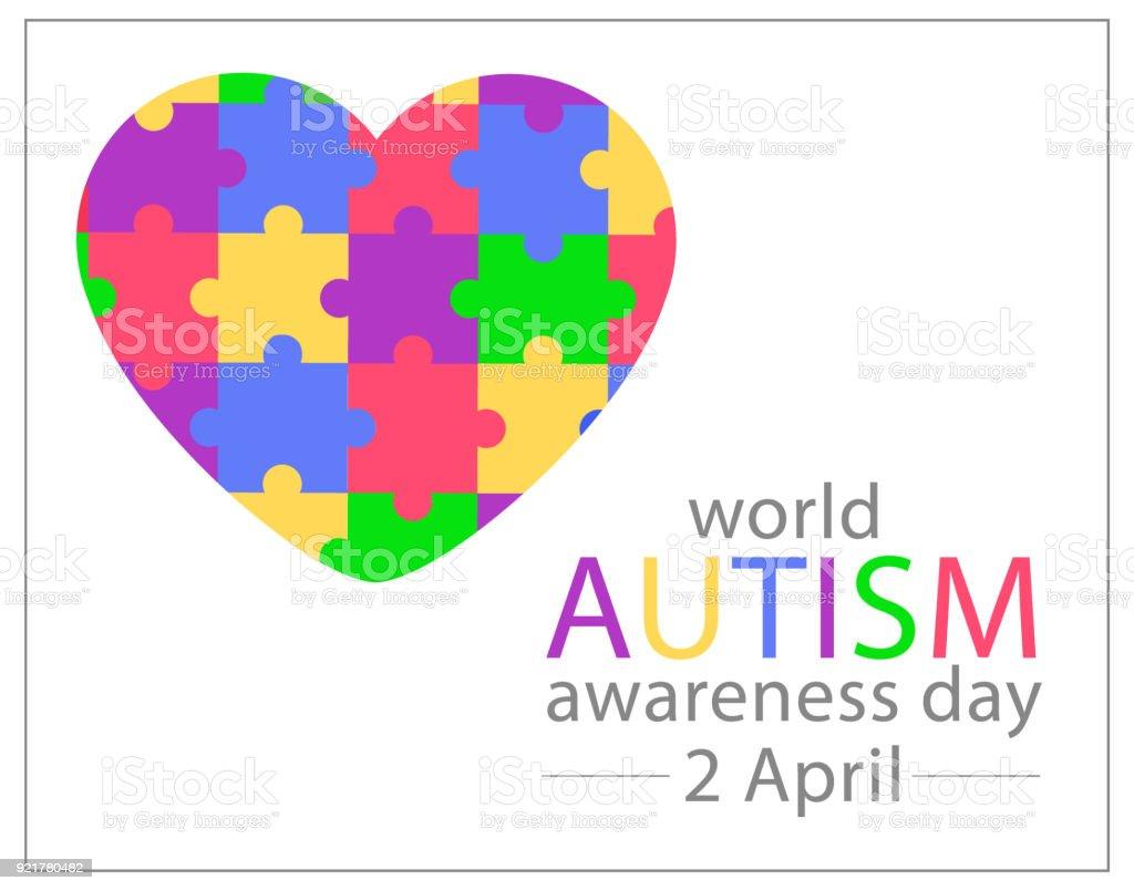 World Autism Awareness Day 2 april. Vector illustration vector art illustration