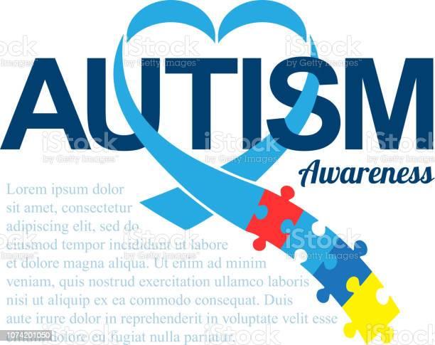 World autism awareness day blue ribbon with colorful puzzles vector vector id1074201050?b=1&k=6&m=1074201050&s=612x612&h=ocklxgkp8bf6ljy0pm8ljnotdkoknsktybu8yitnjcg=