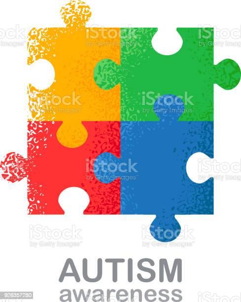 World autism awareness day colorful puzzle vector design hand drawn vector id926357280?b=1&k=6&m=926357280&s=612x612&h=1afrxstev3bdzukvxflli oaodluln4gwdshdxt8fbu=