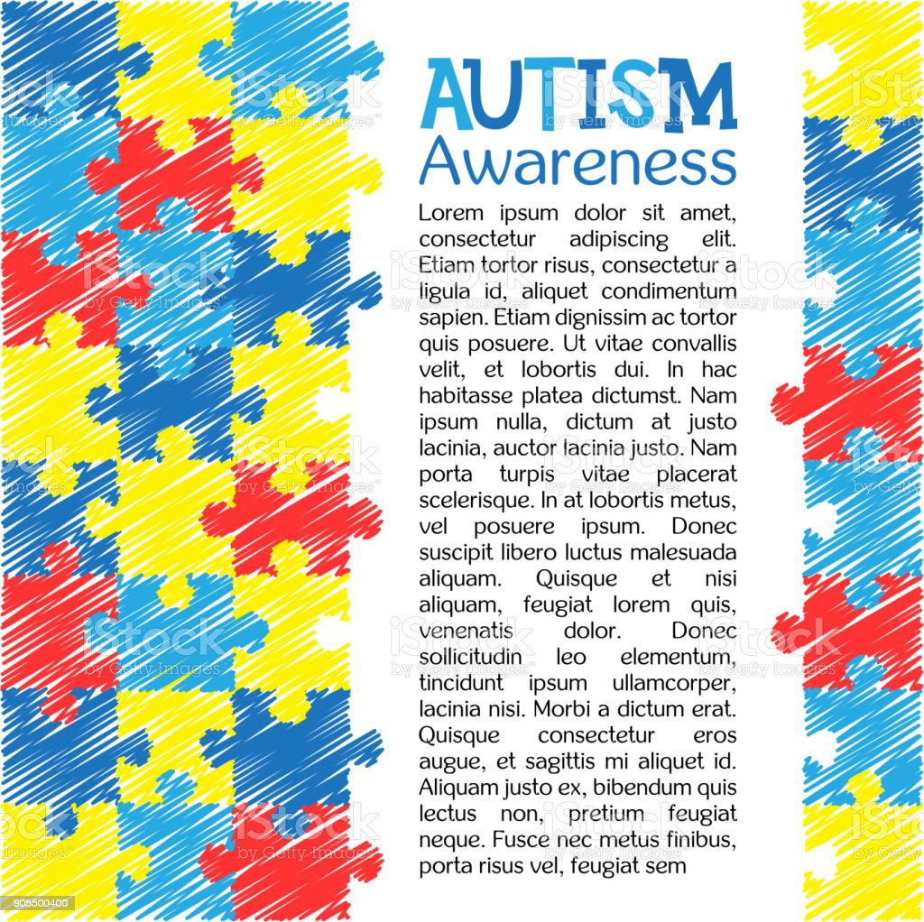 World autism awareness day colourful puzzle vector design hand world autism awareness day colourful puzzle vector design hand drawn background symbol of autism biocorpaavc