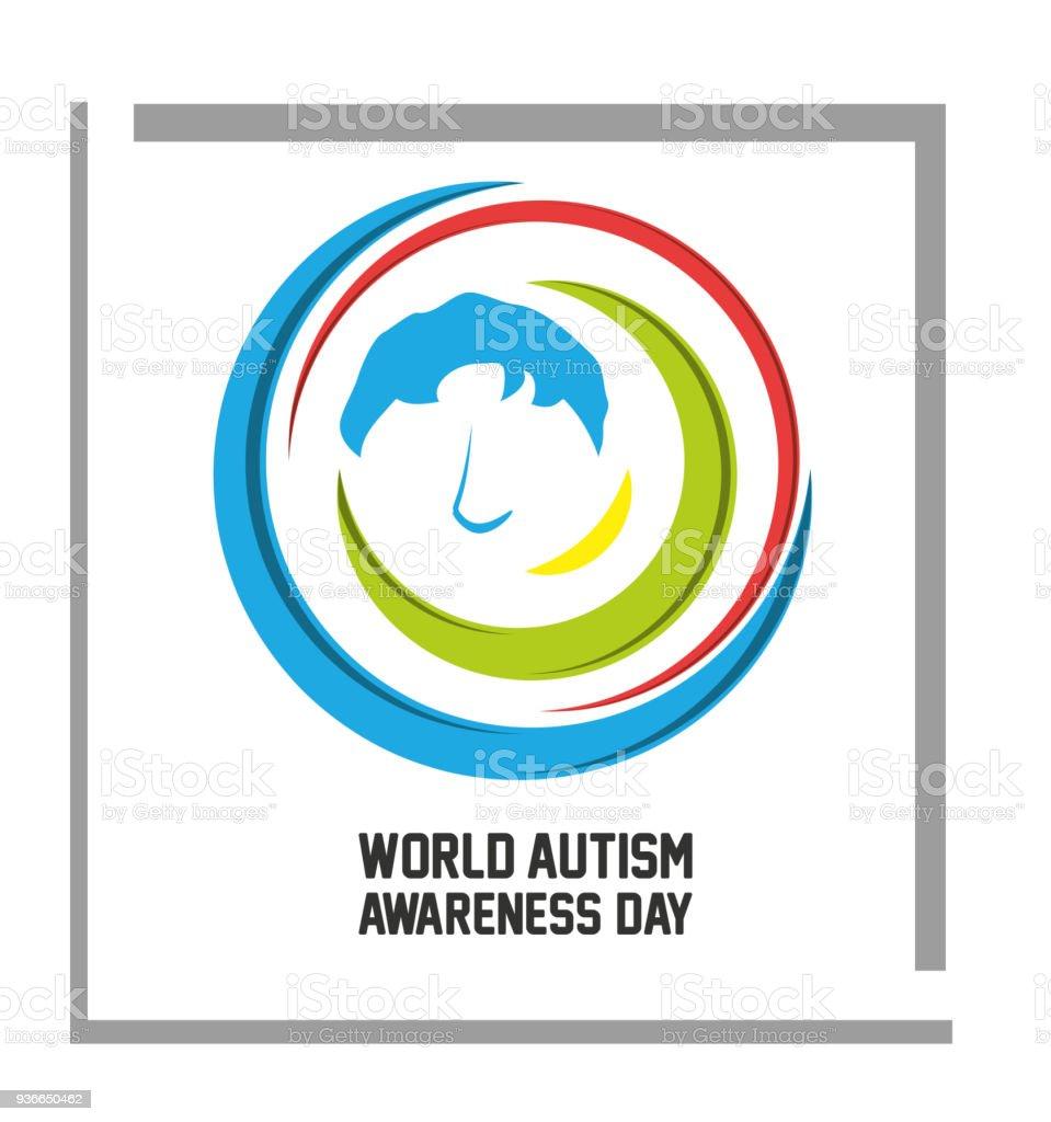 World Autism Awareness Day design vector art illustration