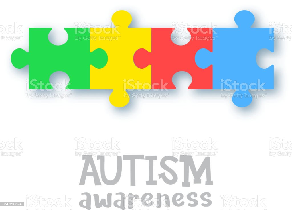 World autism awareness day vector art illustration