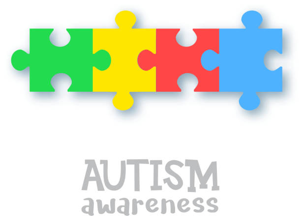 World autism awareness day vector art illustration