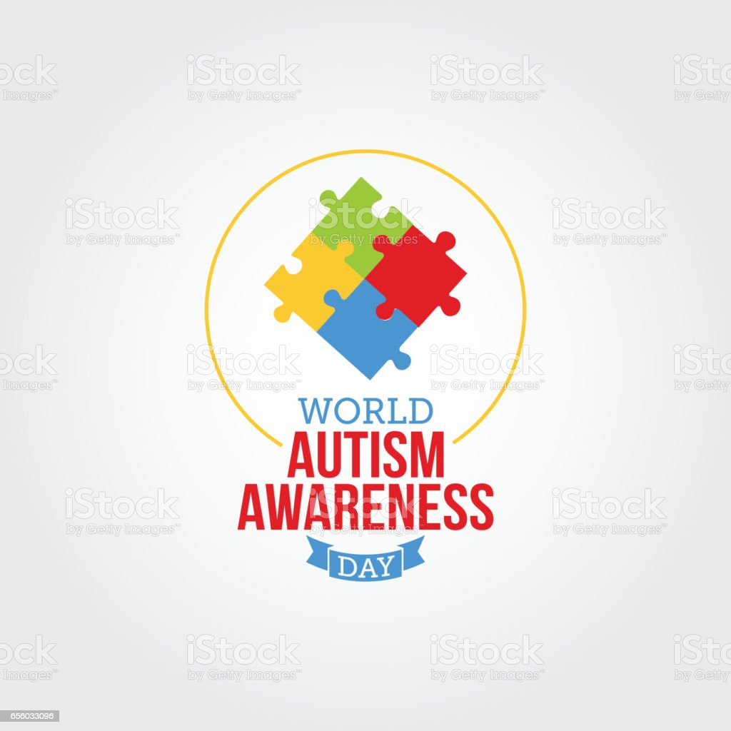world autism awareness day vector illustration suitable for greeting
