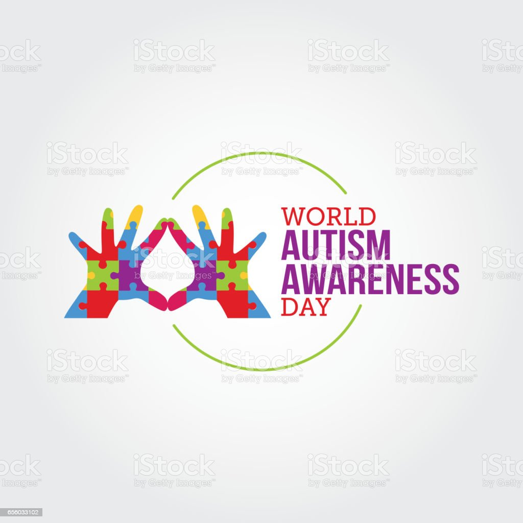 World Autism Awareness Day Vector Illustration. Suitable for Greeting Card, Poster and Banner vector art illustration