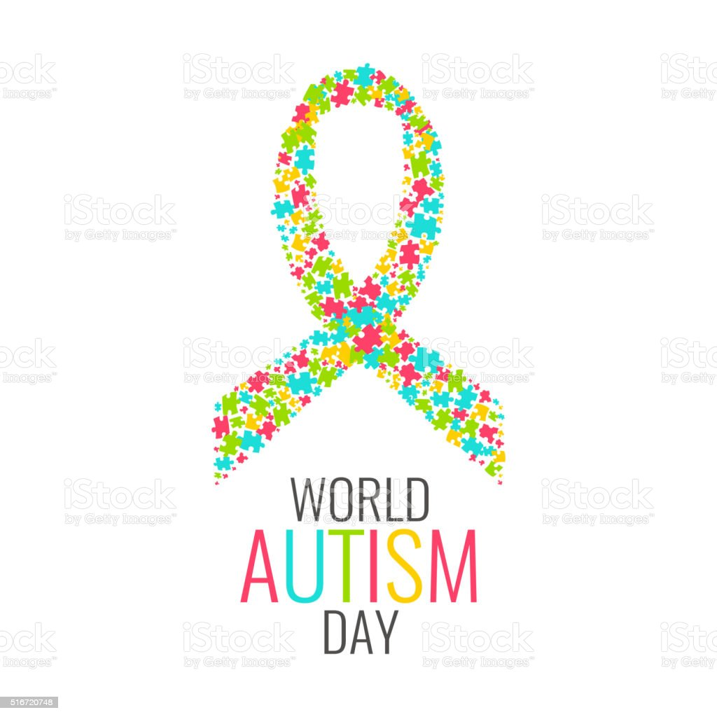 Cartaz do autismo dia mundial - ilustração de arte em vetor