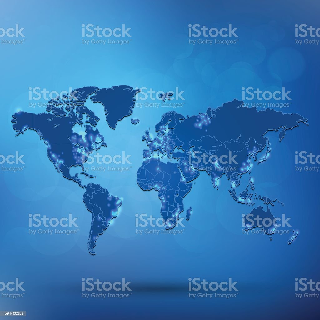 World back light map sky blue background with shadow stock vector world back light map sky blue background with shadow royalty free world back light map gumiabroncs Image collections