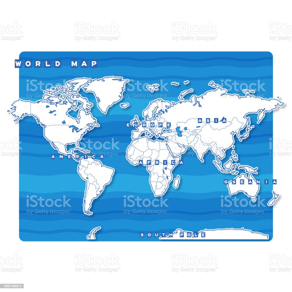 World Blank Map Stock Vector Art More Images Of Color Coded