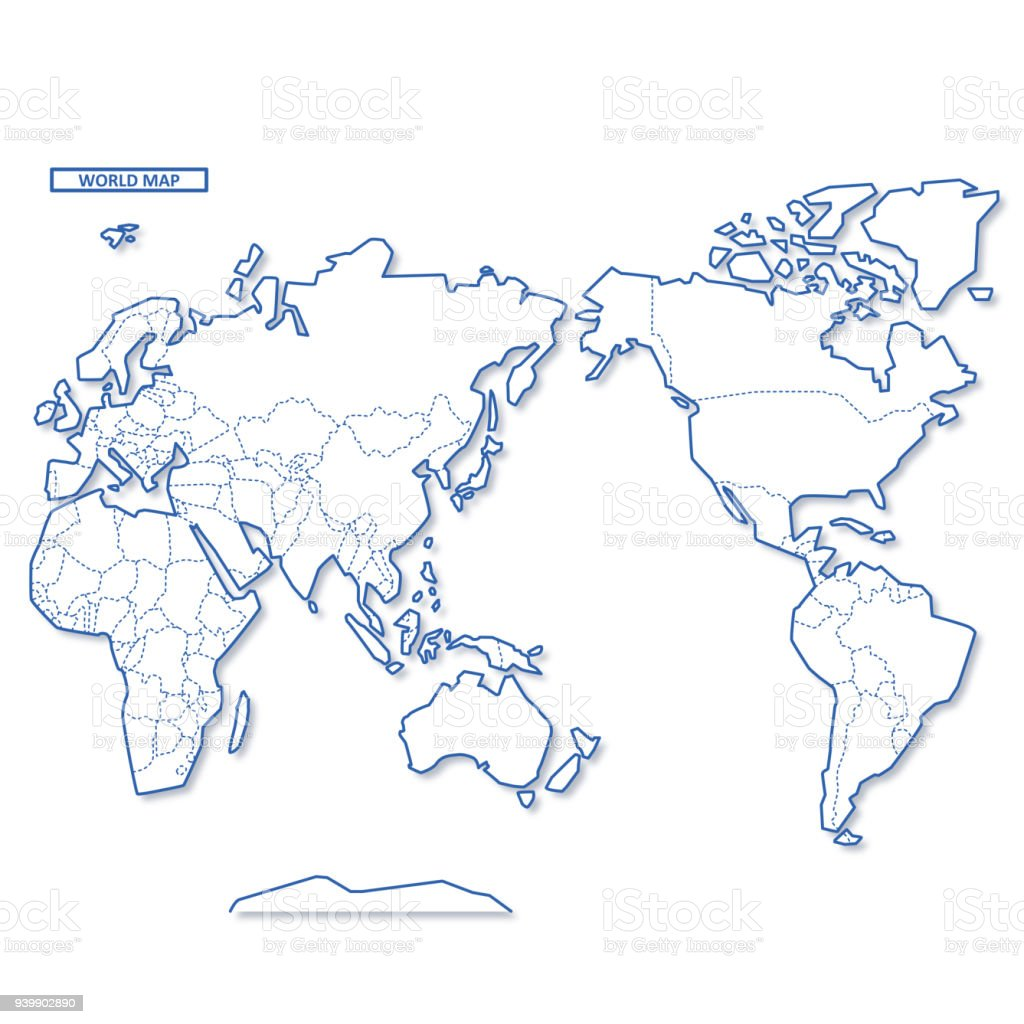 World Blank Map Stock Vector Art More Images Of Africa 939902890