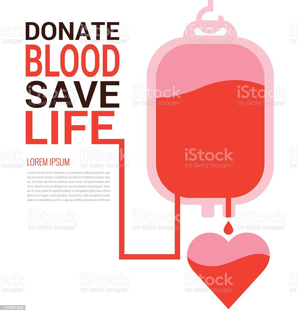 World Blood Donor Day concept vector art illustration