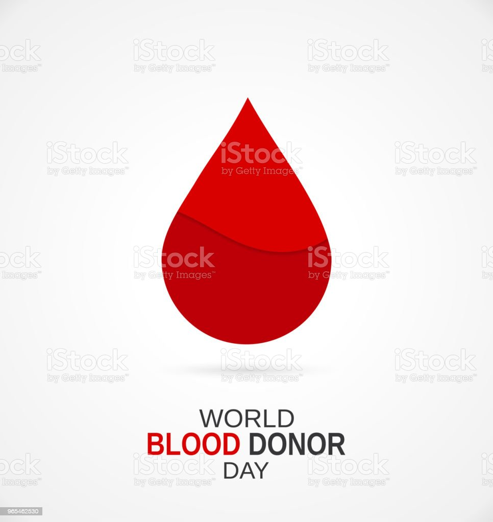 World Blood Donor Day concept with blood drop. Vector illustration. vector art illustration
