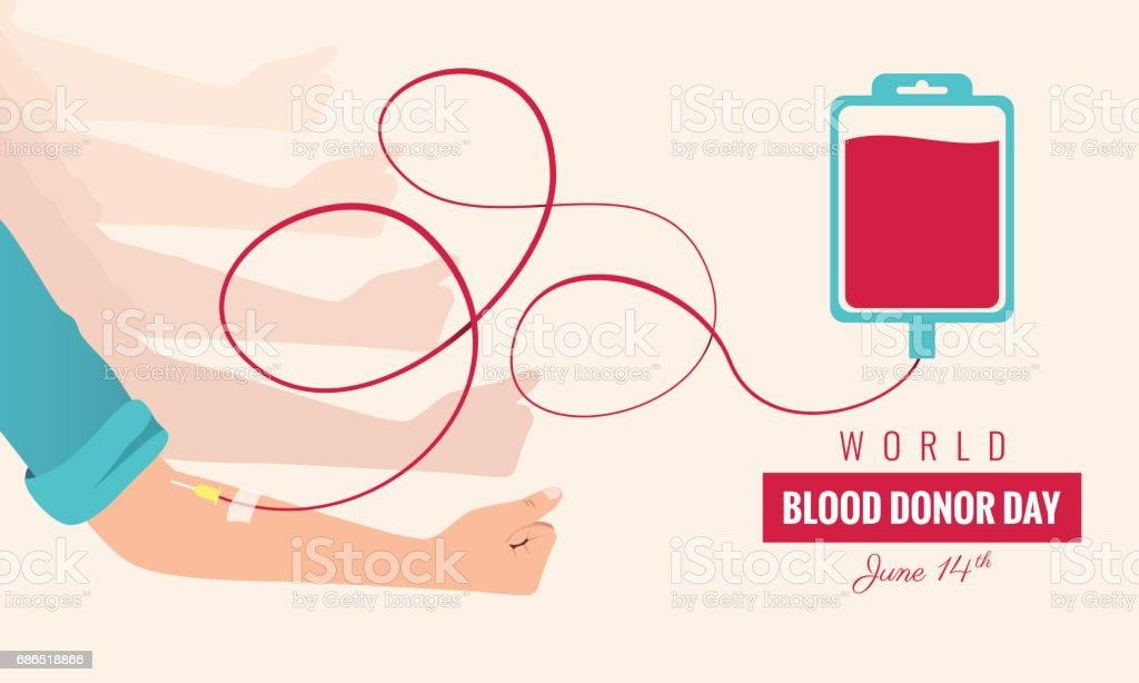 World blood donor day poster. vector art illustration