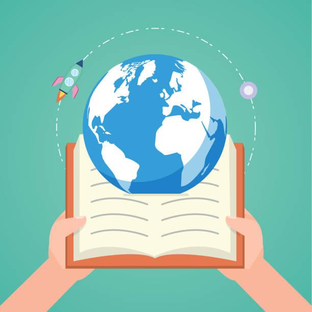 ilustrações de stock, clip art, desenhos animados e ícones de world book day - teacher school solo