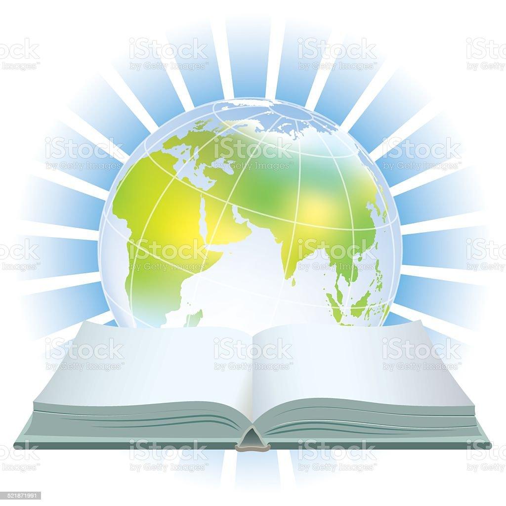World book icon vector art illustration