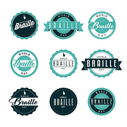 World Braille Day Icon Set